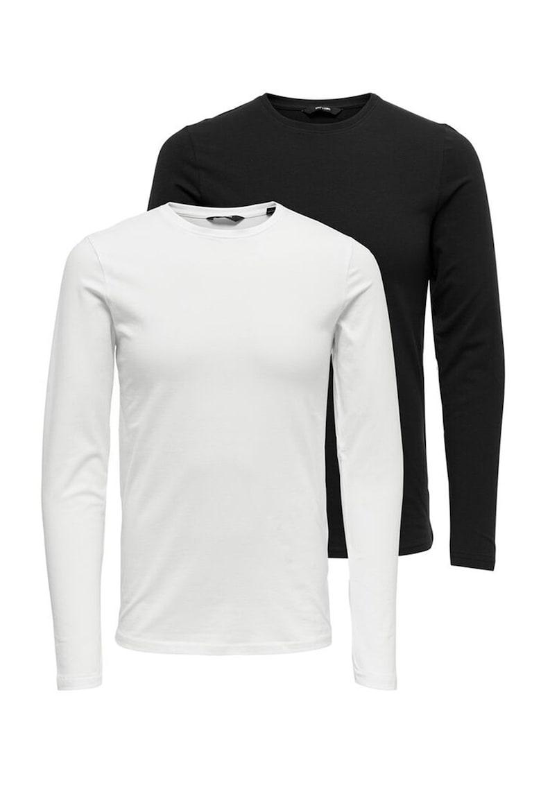 Set de bluze slim fit - 2 piese imagine fashiondays.ro Only & Sons