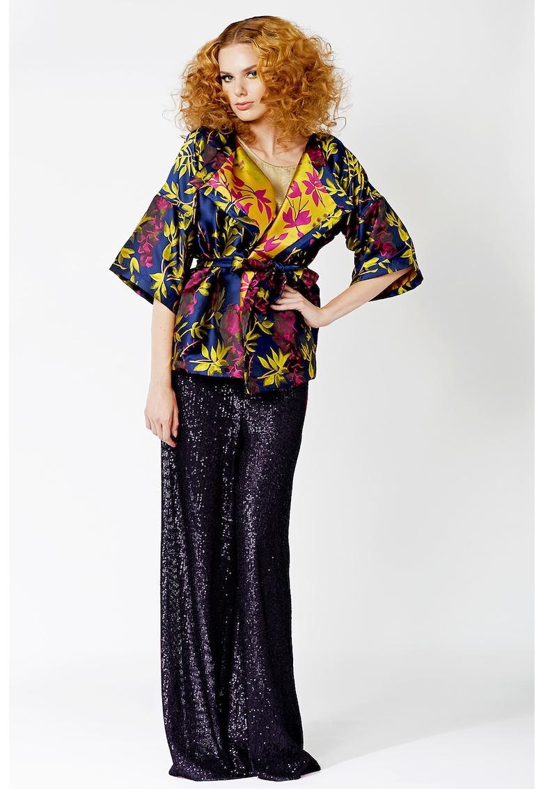 Kimono scurt cu imprimeu imagine fashiondays.ro IULIA DIMA