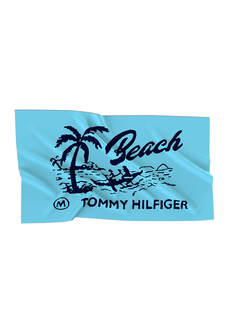 Tommy Hilfiger Prosop de plaja cu logo si model grafic