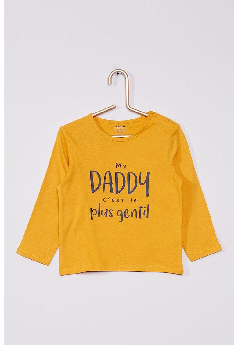 Bluza de bumbac cu imprimeu text
