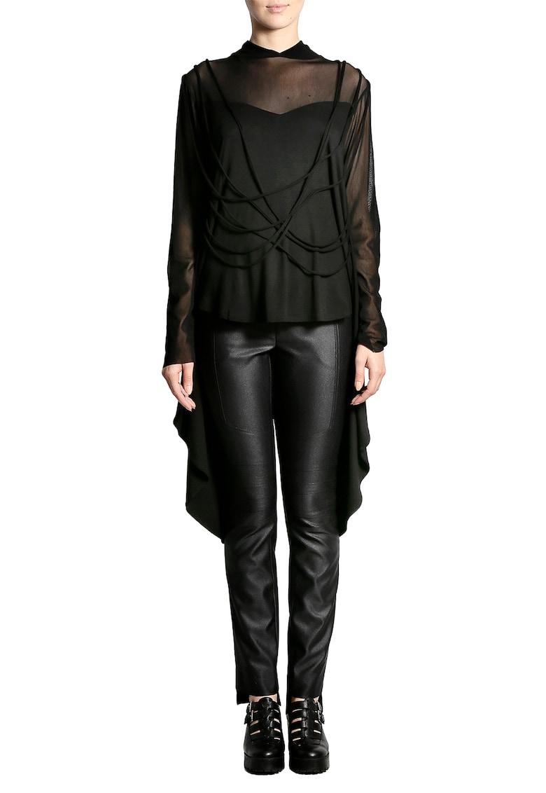 Bluza asimetrica cu maneci semitransparente imagine fashiondays.ro Larisa Dragna