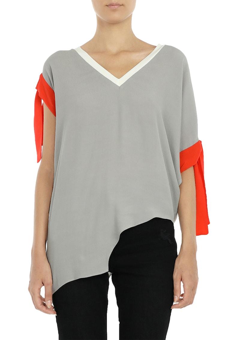 Bluza asimetrica cu mansete cu cordon imagine fashiondays.ro Larisa Dragna