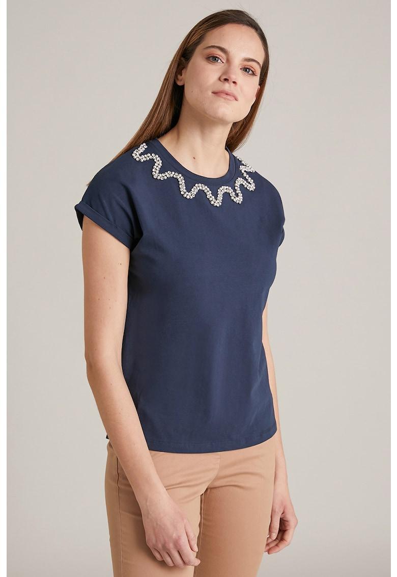 Tricou cu strasuri si margele imagine fashiondays.ro Oltre