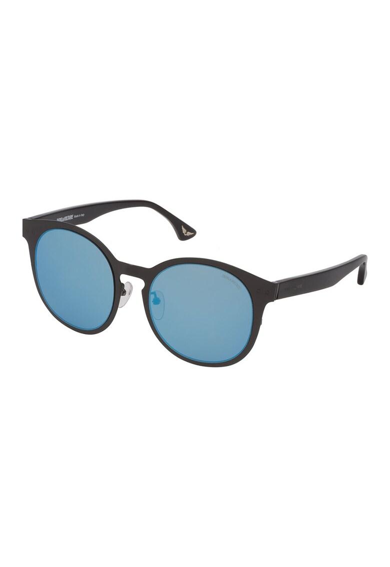 Ochelari de soare pantos unisex cu lentile oglinda imagine fashiondays.ro Zadig & voltaire