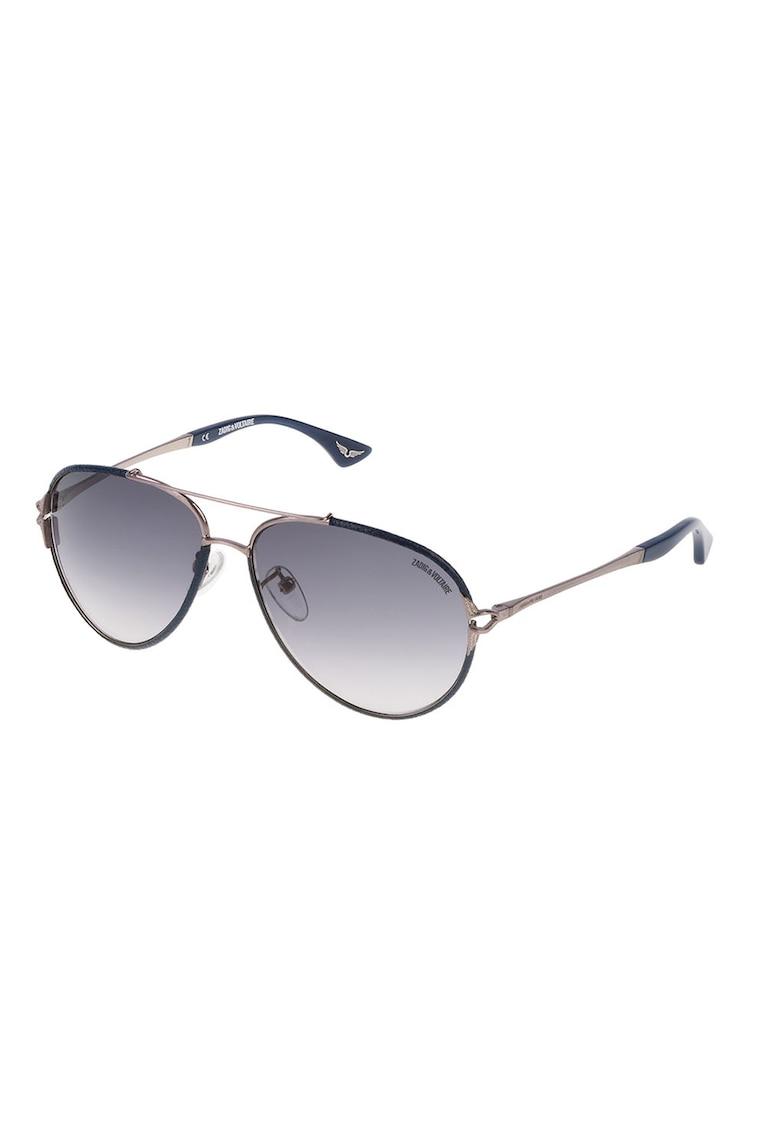 Ochelari de soare aviator unisex imagine fashiondays.ro Zadig & voltaire