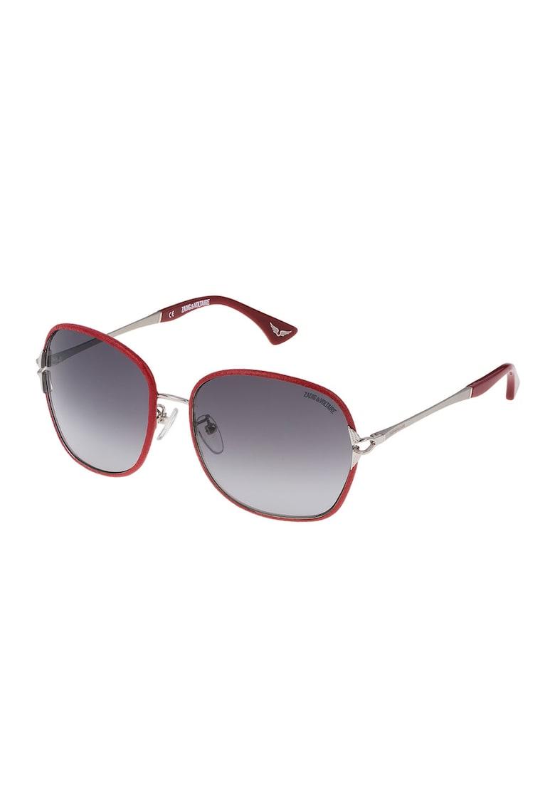 Ochelari de soare unisex rotunzi cu lentile in degrade imagine fashiondays.ro Zadig & voltaire