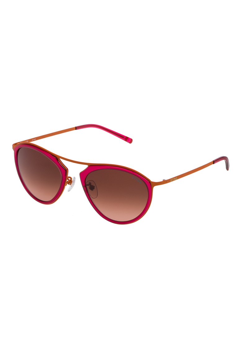 Ochelari de soare unisex ovali colorblock imagine fashiondays.ro STING