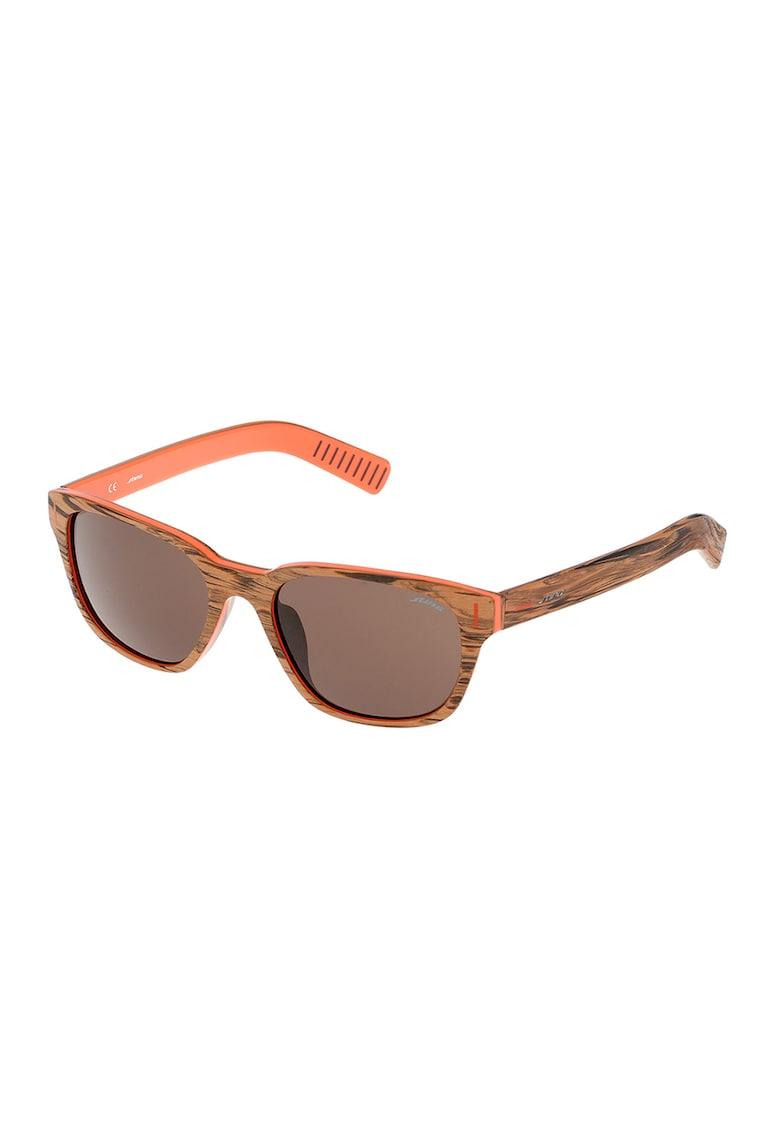 Ochelari de soare unisex cu aspect de lemn imagine fashiondays.ro STING