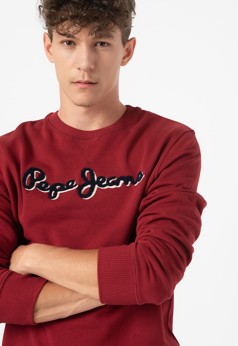Bluza sport cu logo din material terry Lamont