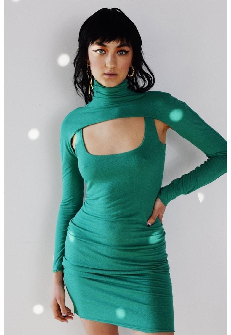 Rochie fara maneci cu decolteu rotund imagine fashiondays.ro MANURÍ