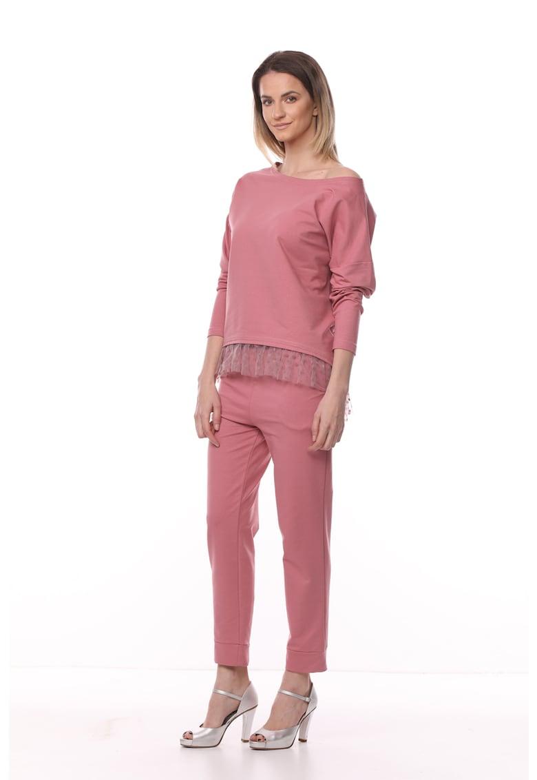 Set de bluza si pantaloni din jerseu cu croiala conica - 2 piese imagine fashiondays.ro 4YOU