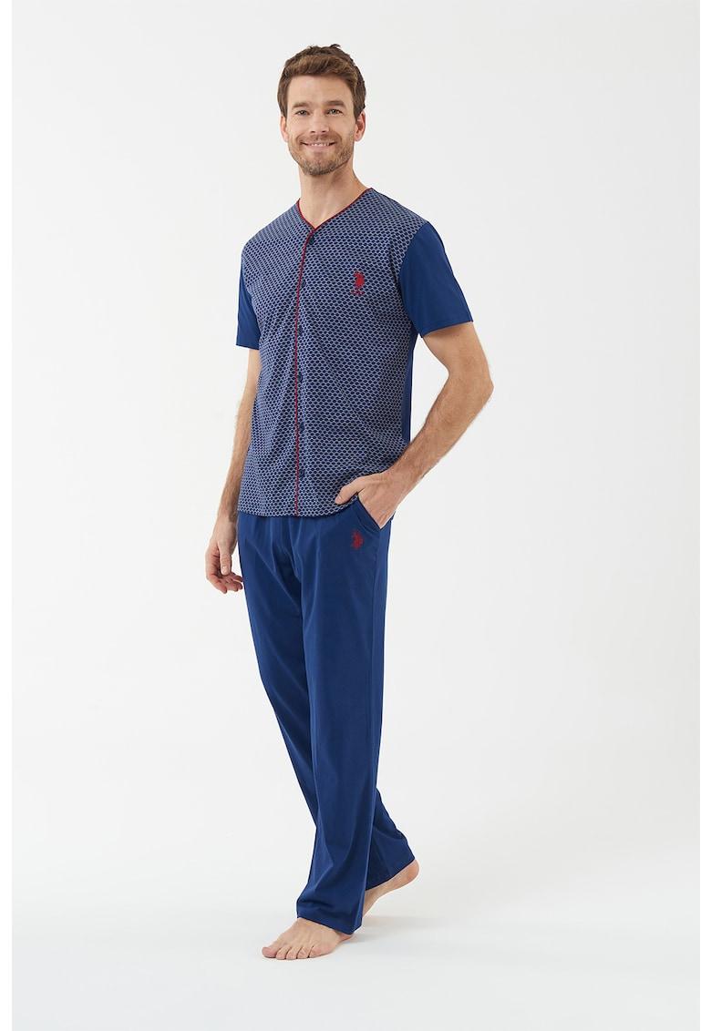 Pijama cu o camasa cu maneci scurte si pantaloni