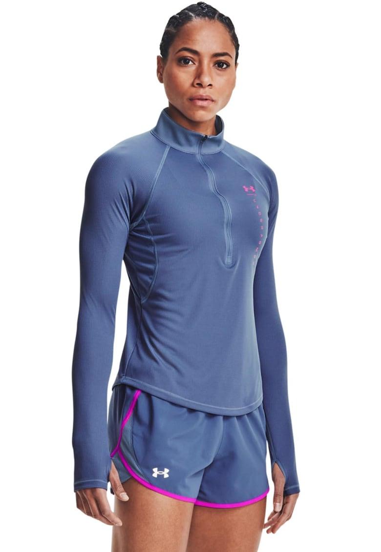 Bluza cu fenta cu fermoar pentru alergare Stride Attitude imagine fashiondays.ro Under Armour