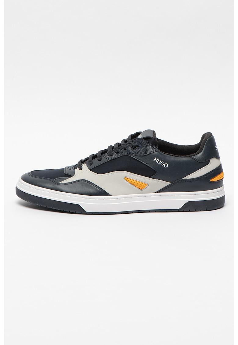 Pantofi sport din piele ecologica cu detalii logo Switon