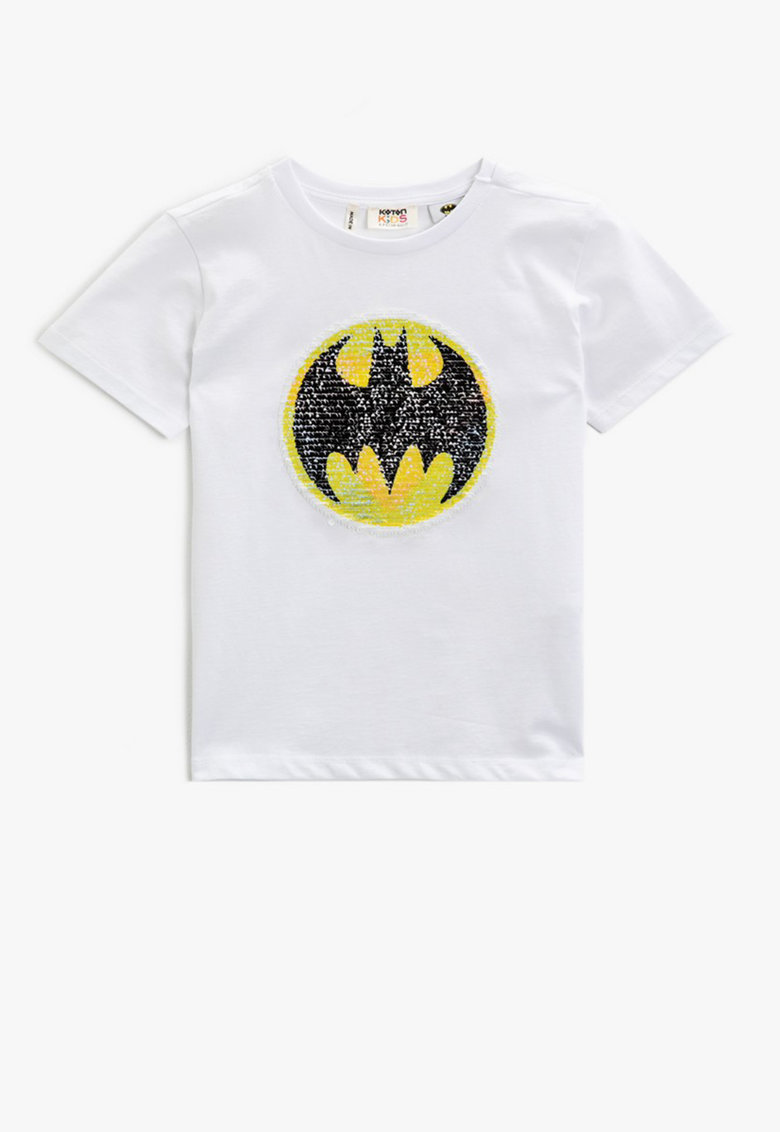Tricou cu aplicatie Batman de paiete