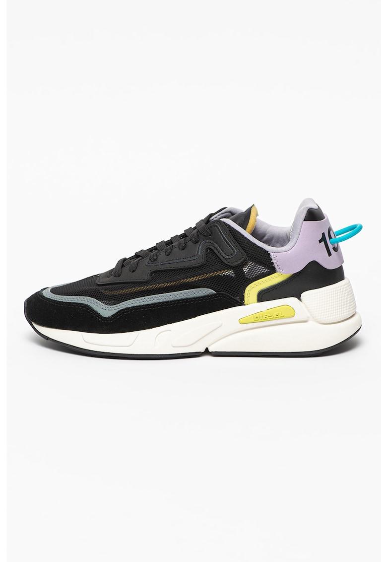 Pantofi sport cu model colorblock si insertii din piele Serendipity
