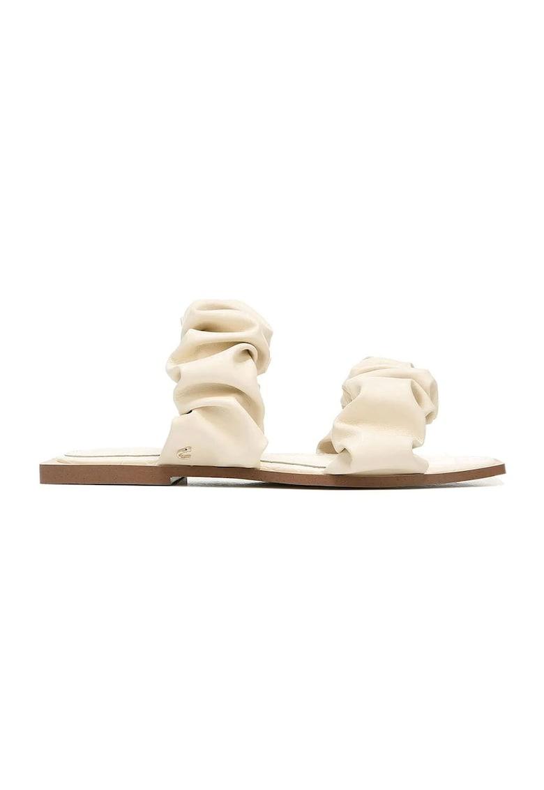 Papuci de piele ecologica cu volane Iggy