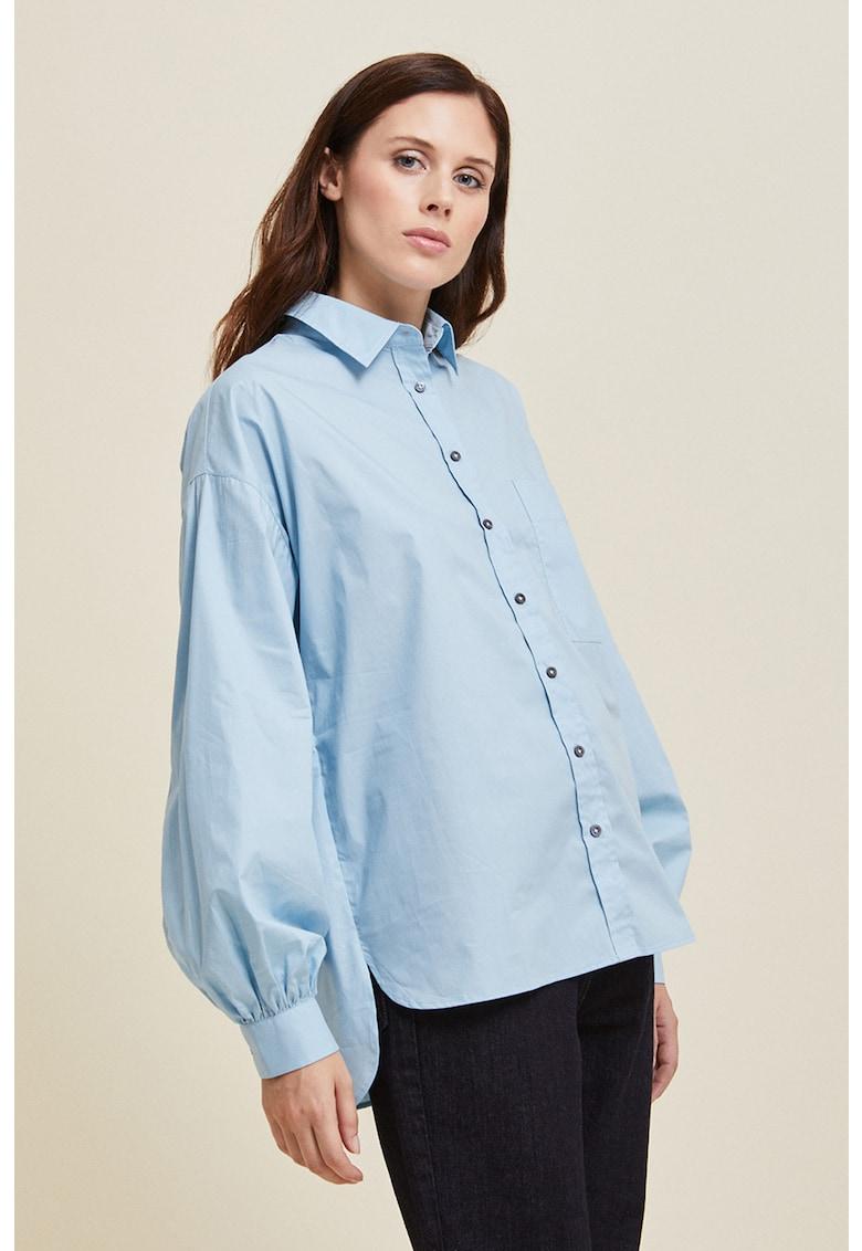 Camasa asimetrica cu buzunar pe piept imagine fashiondays.ro Stefanel