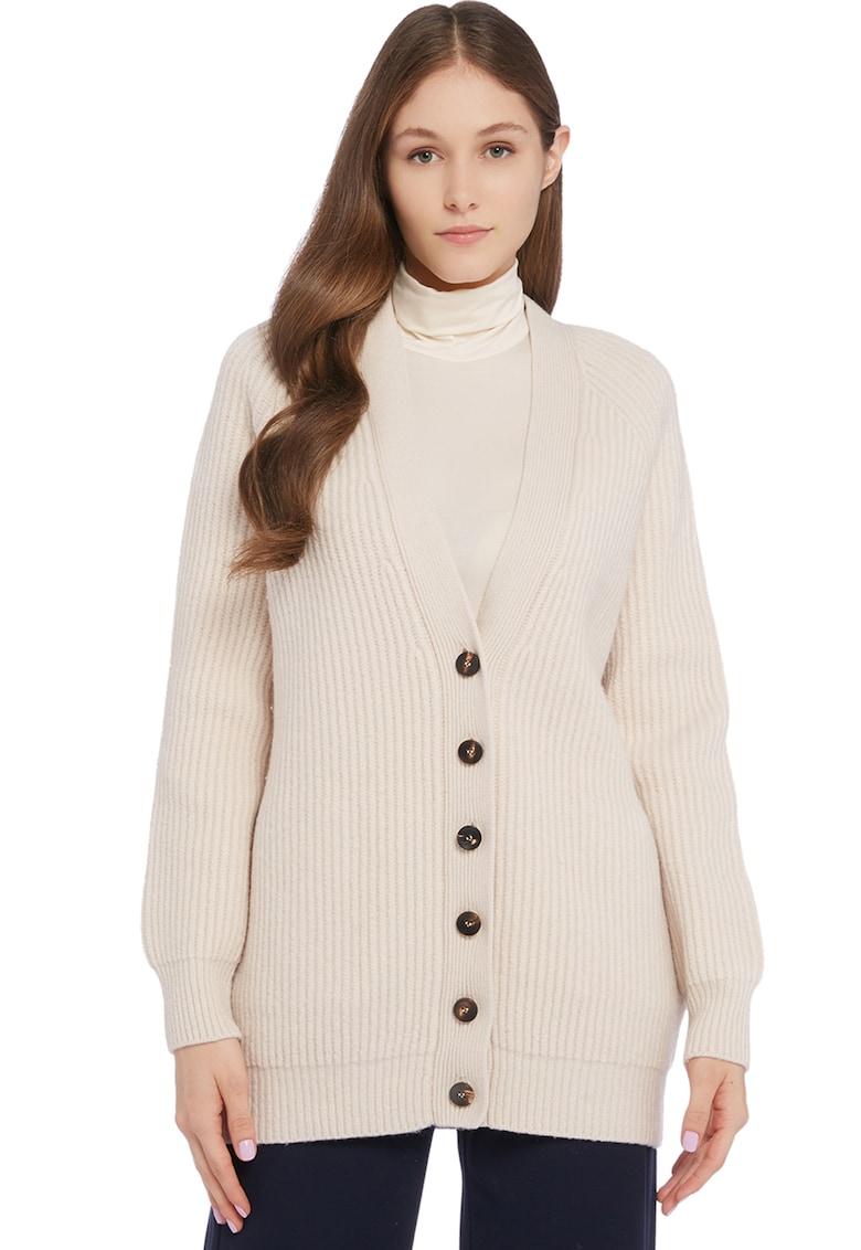 Cardigan din amestec de lana cu decolteu in V imagine fashiondays.ro Stefanel