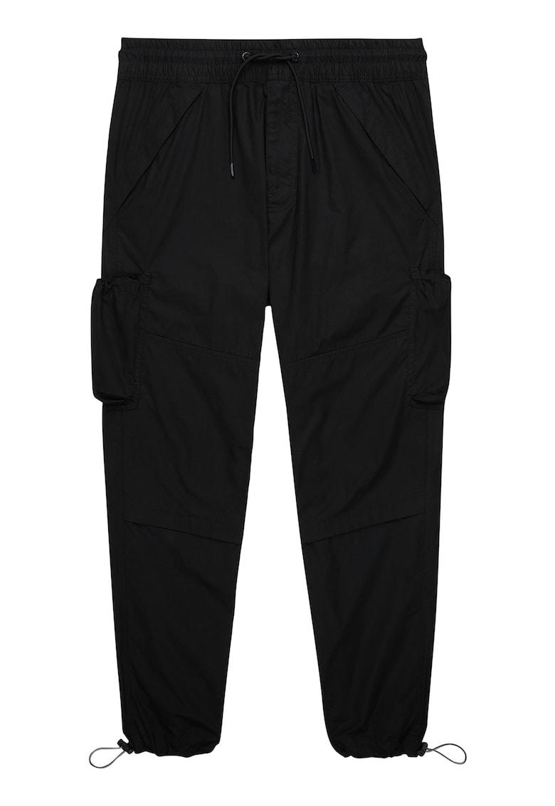 Pantaloni crop cu terminatii ajustabile