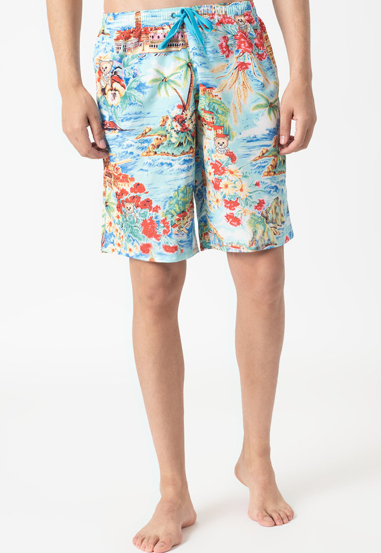 Bermude de baie cu model imagine fashiondays.ro Moschino
