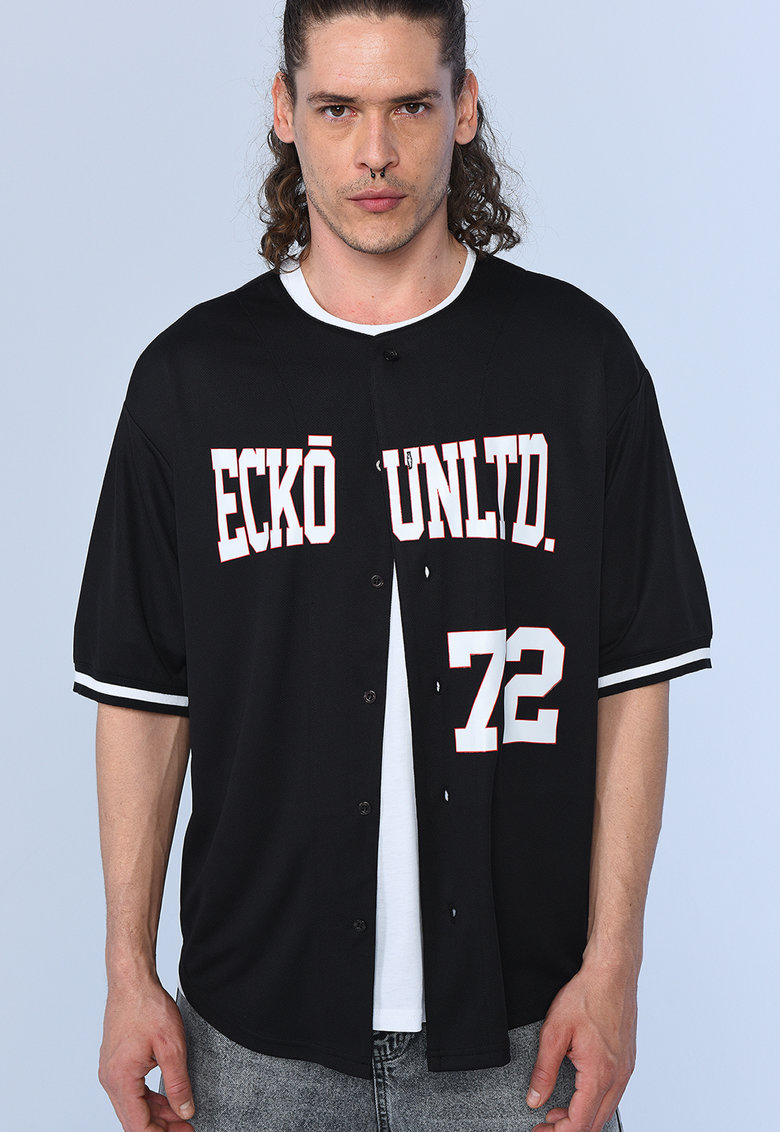 Camasa baseball supradimensionata Santiago imagine fashiondays.ro Ecko