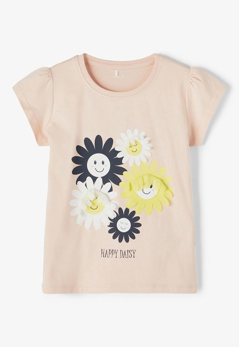 Bluza din amestec de bumbac organic cu aplicatii imagine fashiondays.ro NAME IT