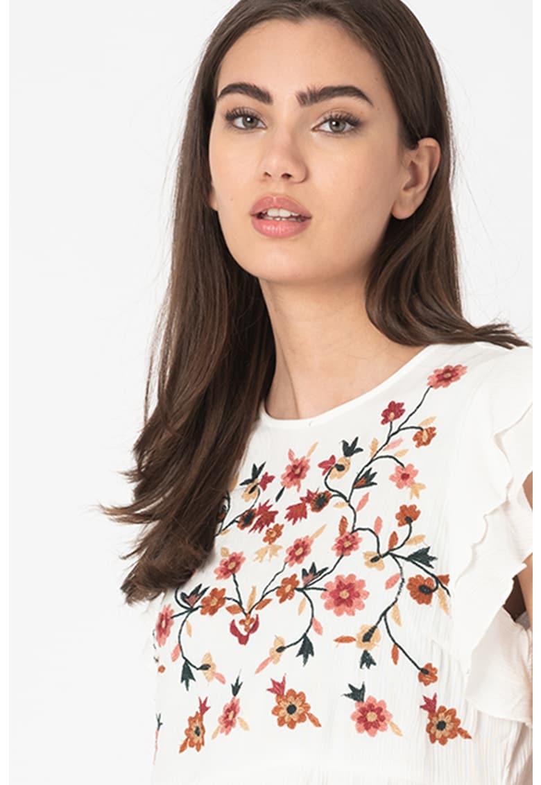 Bluza cu broderie florala Karlina