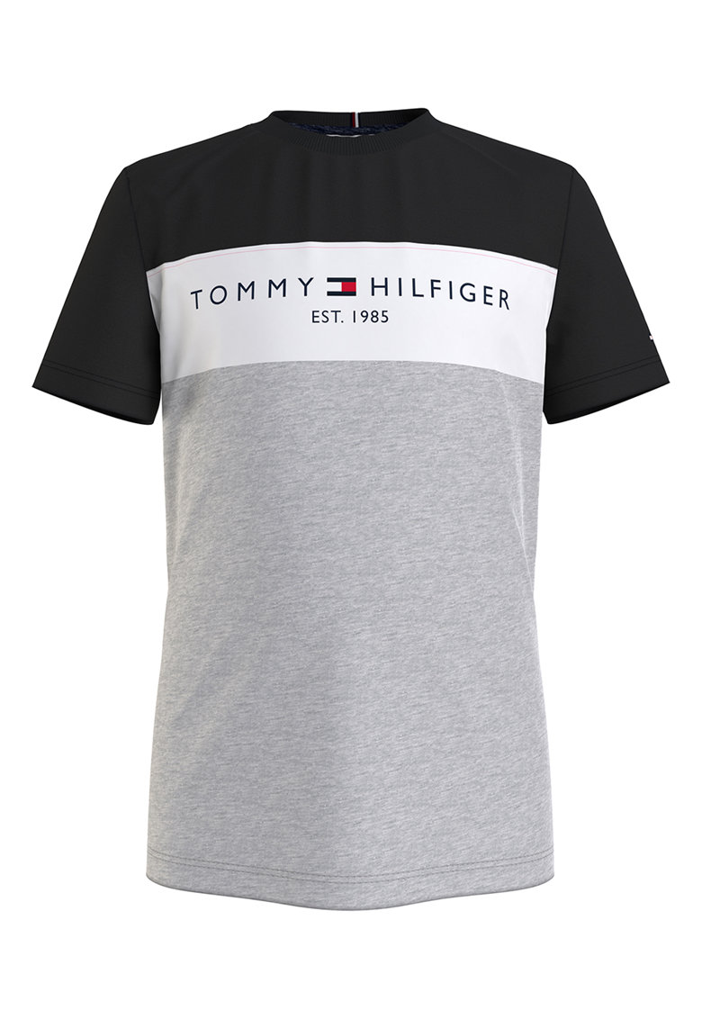 Tricou de bumbac organic cu imprimeu logo imagine fashiondays.ro Tommy Hilfiger