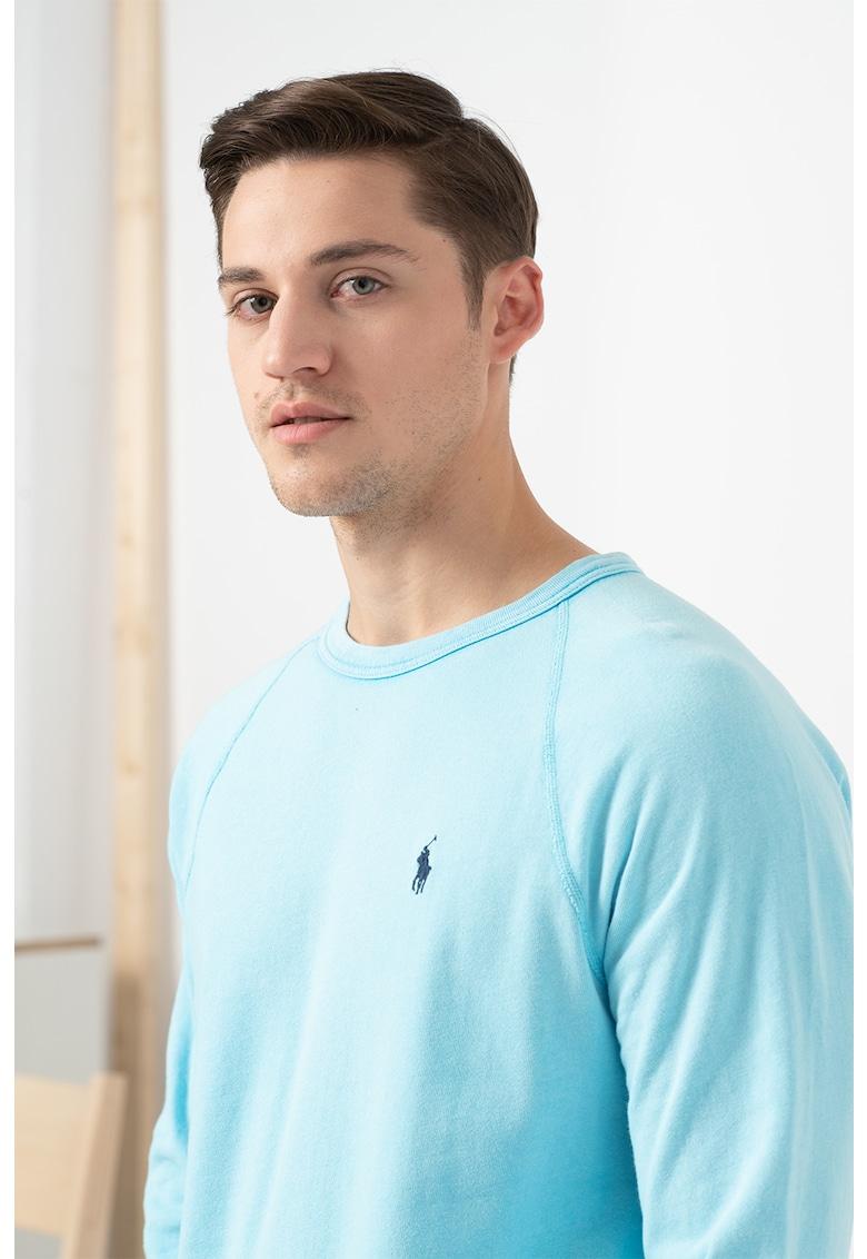 Bluza de bumbac cu maneci raglan imagine fashiondays.ro Polo Ralph Lauren