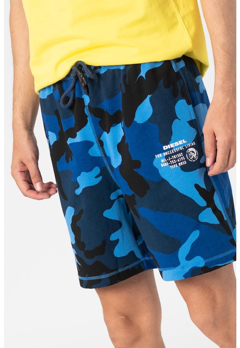 Pantaloni scurti de casa cu imprimeu camuflaj Eddy