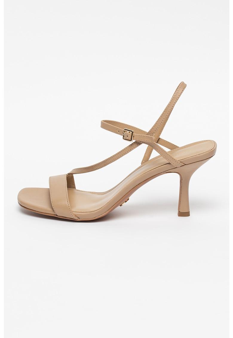 Sandale de piele cu varf patrat Tasha