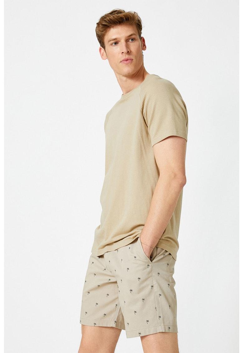 KOTON Pantaloni scurti chino cu model tropical