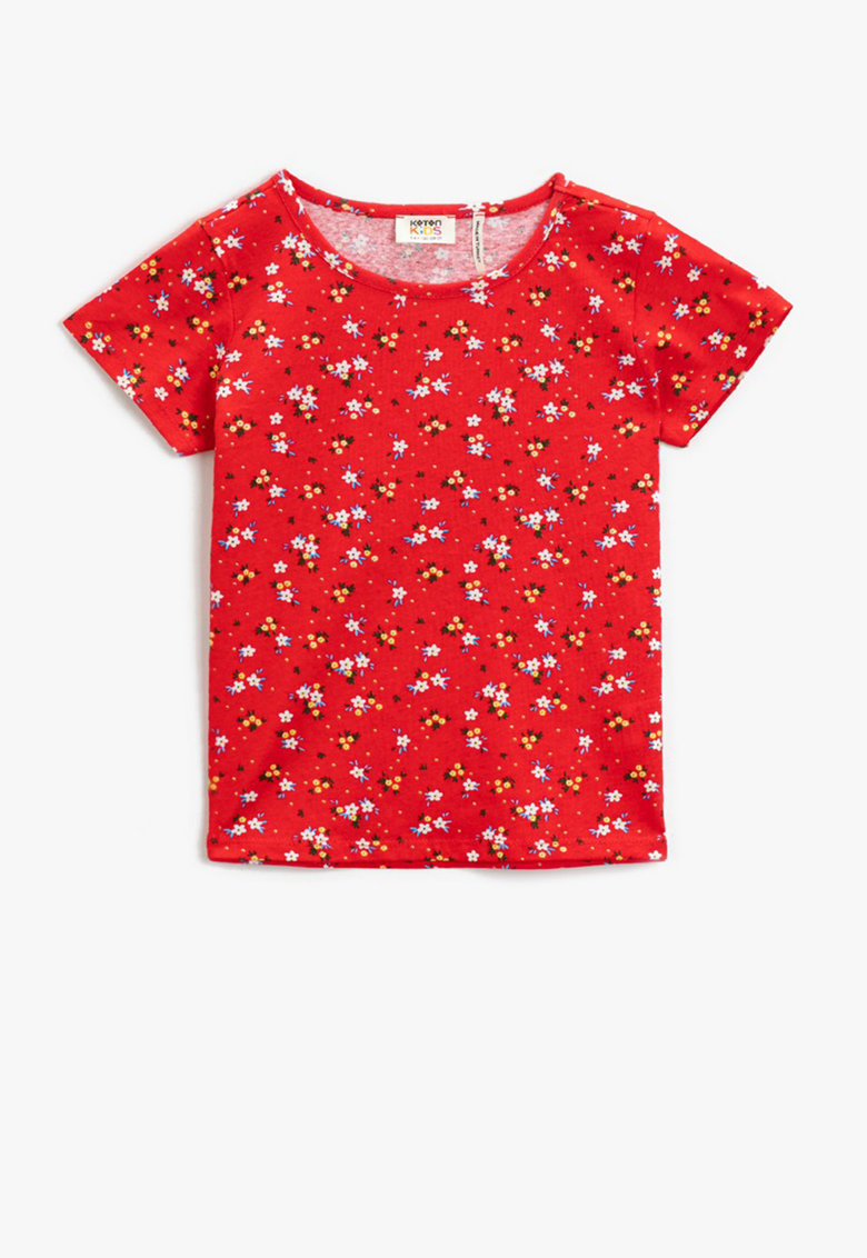 KOTON Tricou de bumbac cu imprimeu floral