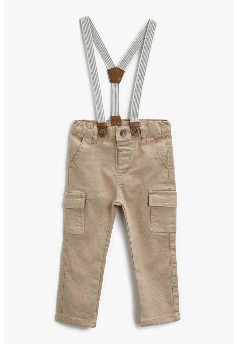 KOTON Pantaloni cargo cu bretele detasabile