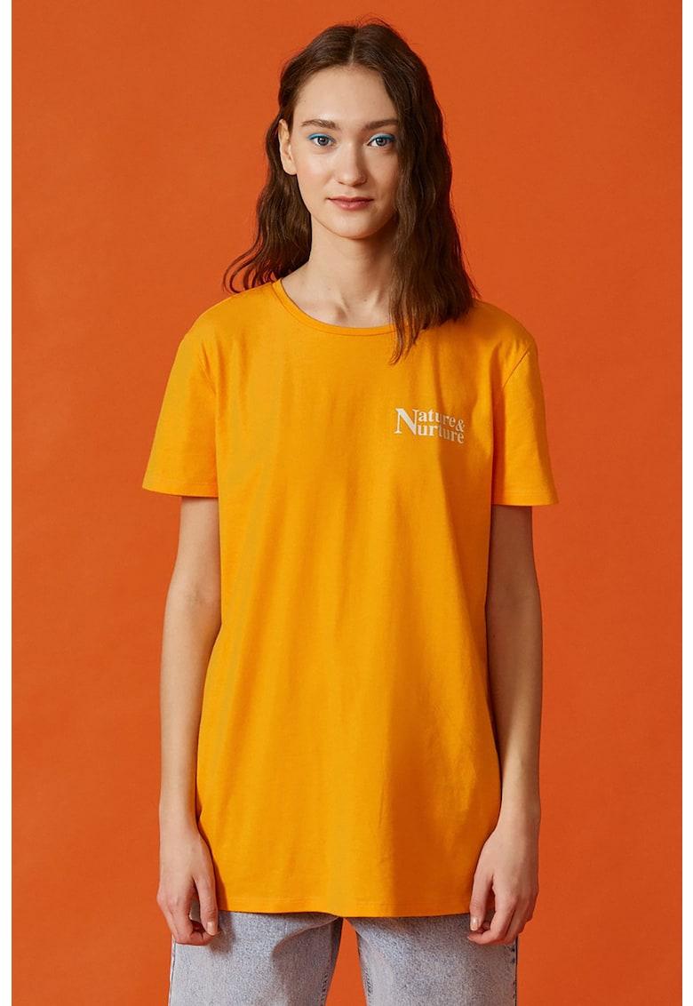 KOTON Tricou de bumbac cu imprimeu pe spate