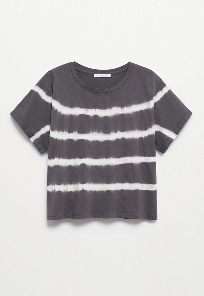 Tricou cu dungi cu model tie-dye Matcha de la Mango