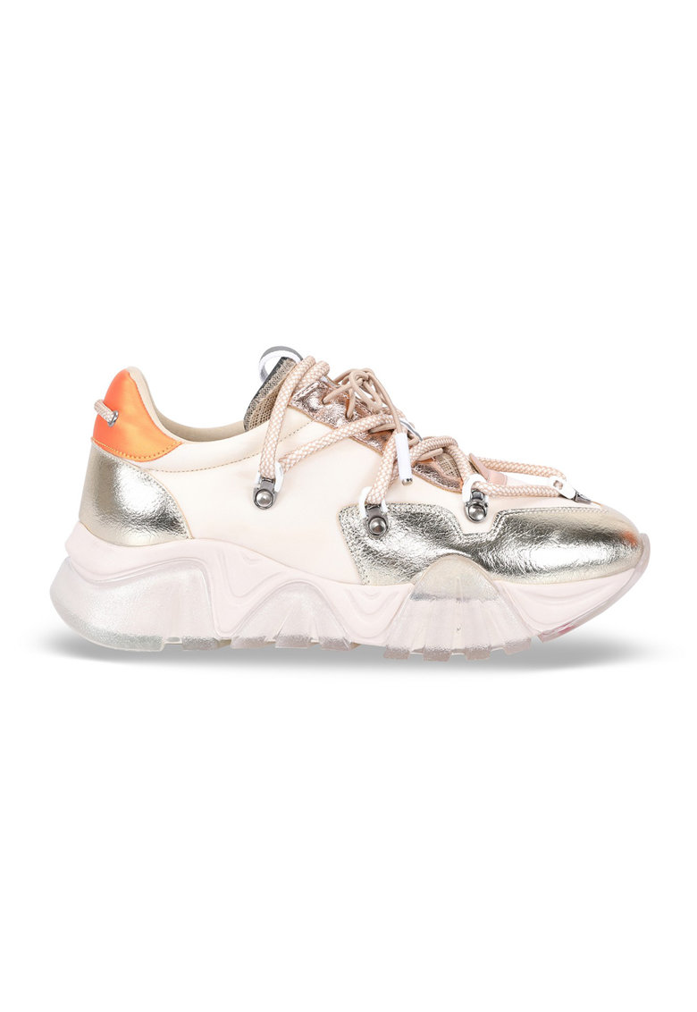 Pantofi sport low-top cu garnituri metalizate