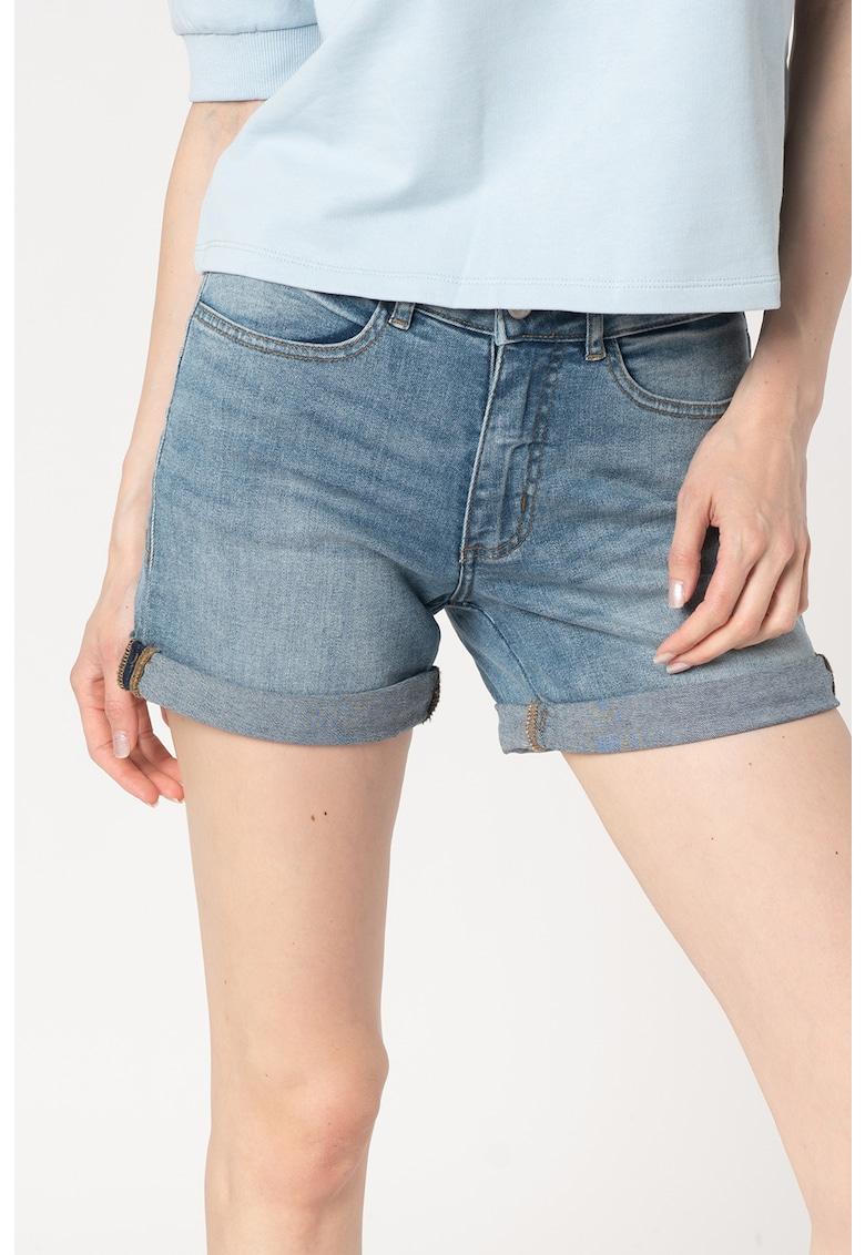 Pantaloni din denim cu terminatie pliabila Twiggy