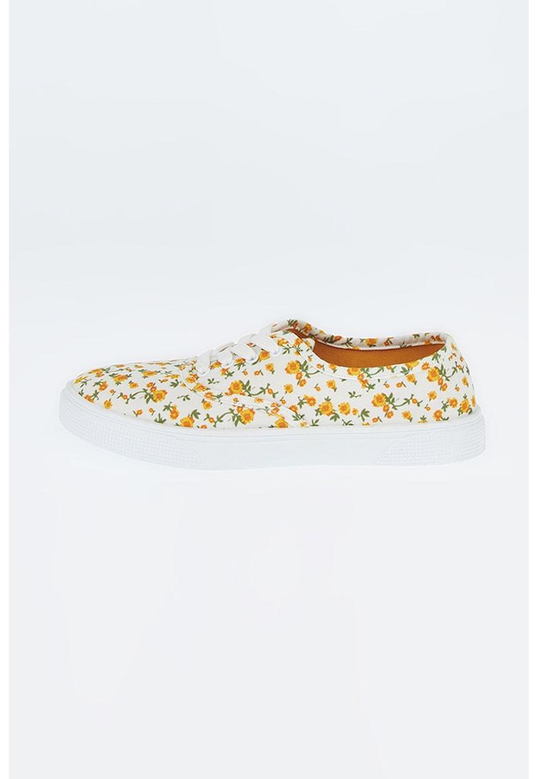 Pantofi sport din material textil cu imprimeu floral