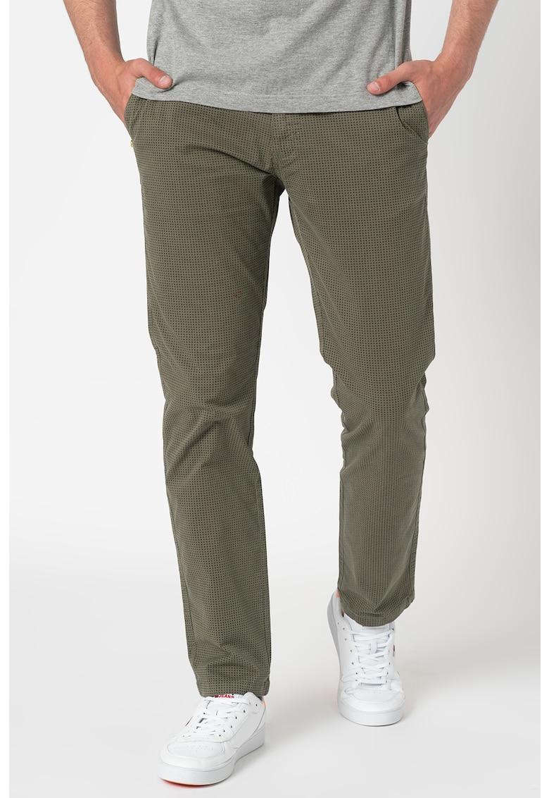 Pantaloni chino cu model discret