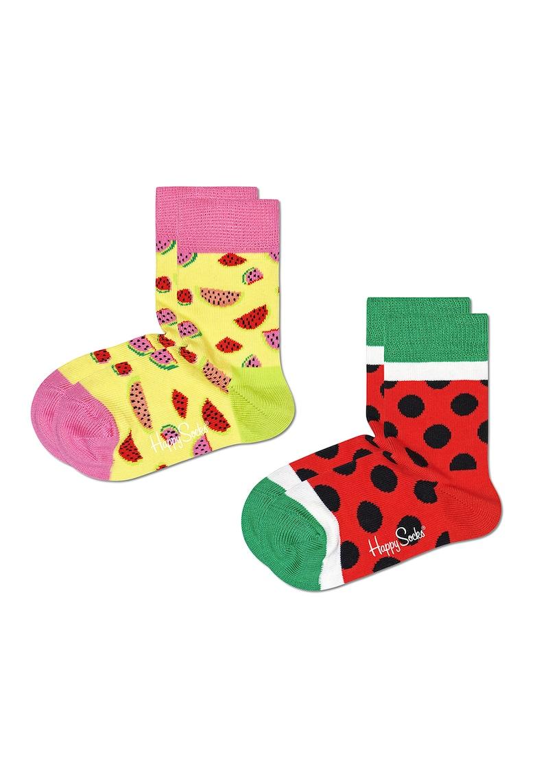 Happy Socks Set 2 perechi de sosete – unisex – cu imprimeu pepene – Multicolor