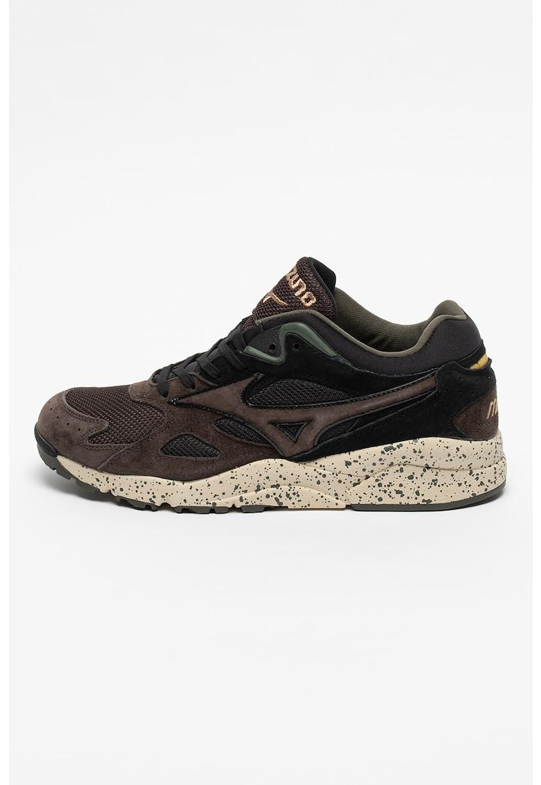 Pantofi sport de piele ecologica cu insertii de plasa Sky Medal