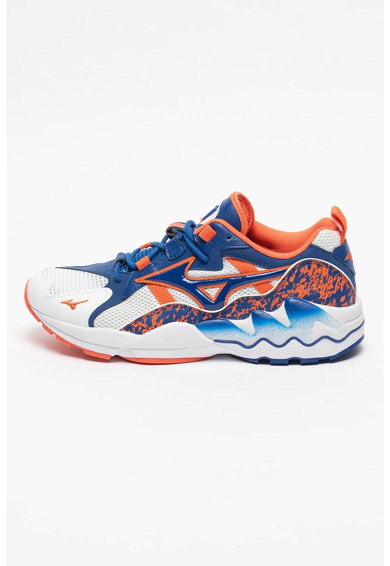 Pantofi sport cu garnituri piele ecologica Wave Rider 1