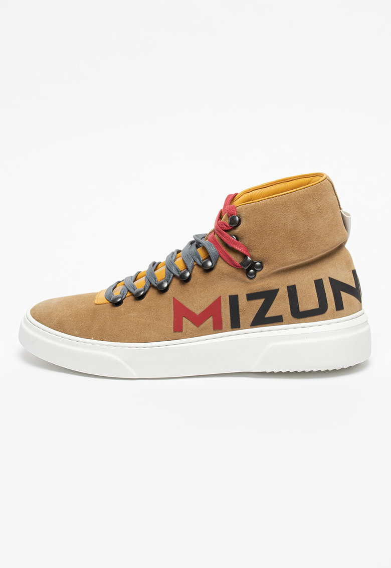 Pantofi sport mid-high de piele intoarsa cu insertii de material textil Hoshikage