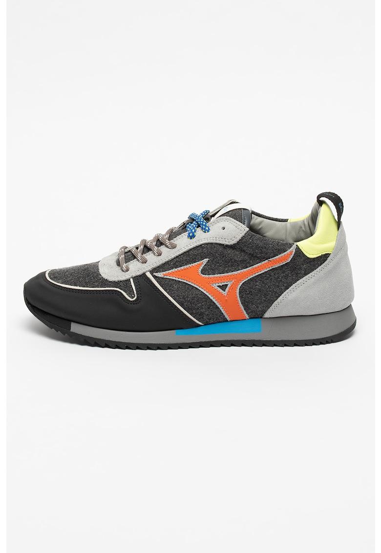 Pantofi sport colorblock cu garnituri de fetru si piele intoarsa Etamin