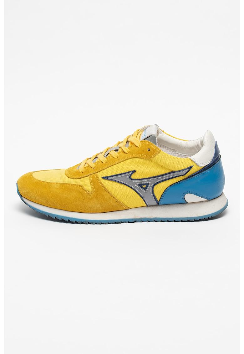 Pantofi sport low-top de piele si piele intoarsa Etamin