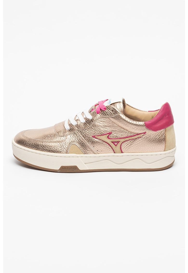 Pantofi sport de piele cu insertii de piele intoarsa sintetica Saiph