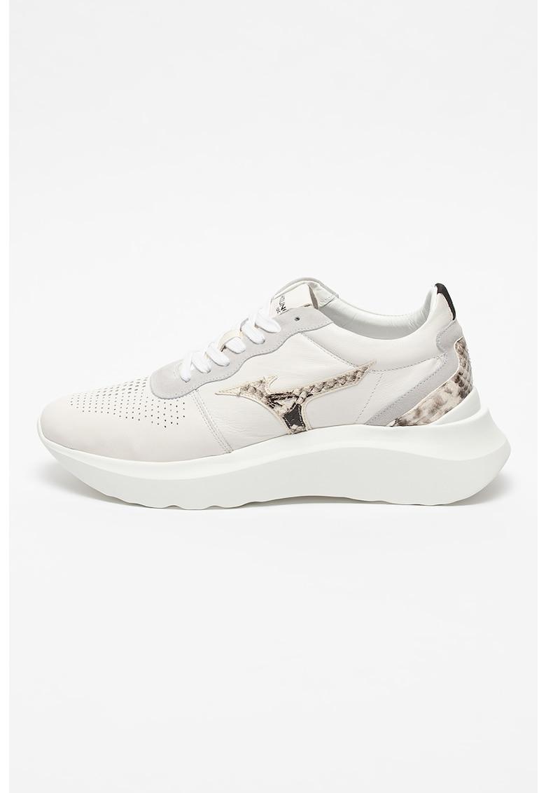 Pantofi sport cu detalii tip piele de sarpe Naos