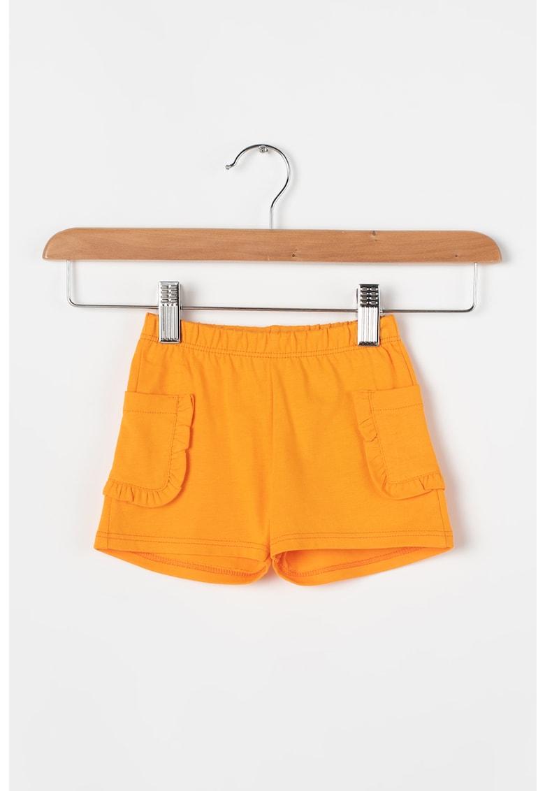 Pantaloni scurti din jerseu cu buzunare laterale cu volane de la United Colors of Benetton